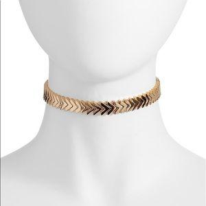 Rebecca Minkoff Chevron Stretch Choker Necklace